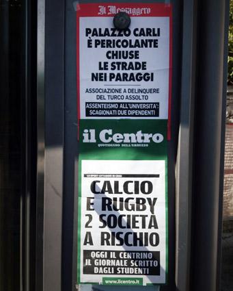 """Locandine """"Il Centro"""" e """"Il Messaggero"""""""