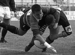 Finale scudetto rugby '94: mediani di mischia.