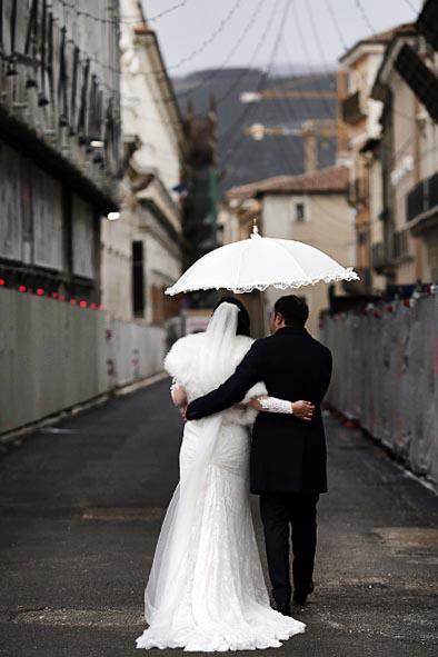 L'Aquila: matrimonio d'inverno
