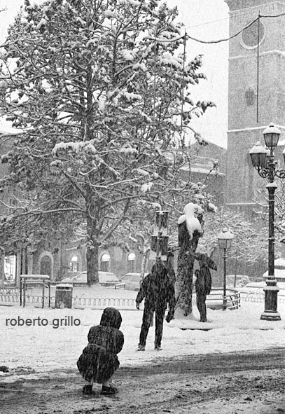 Neve a Piazza Palazzo